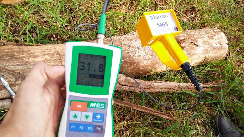 Medidor de Umidade para Toras Marrari M65 Umilog